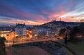 Lyon dusk Royalty Free Stock Photo