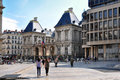 LYON, FRANCE - MAY 19: Louis Pradel square. Opera, old and new town hall. Royalty Free Stock Photo