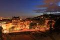 Lyon at night Royalty Free Stock Photo