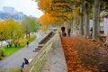 Lyon river park , France Royalty Free Stock Photo