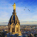 Lyon by sunset Royalty Free Stock Photo