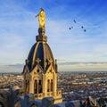 Lyon by sunset Royalty Free Stock Photo