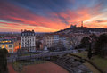 Lyon sunset Royalty Free Stock Photo