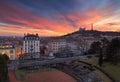 Lyon sunset Royalty Free Stock Photo