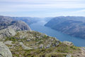 Lysefjord View 001 Royalty Free Stock Photo