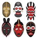 Máscaras 2 do africano Foto de Stock Royalty Free