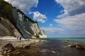 Møns klint møn island famous white chalk cliffs Stock Images