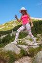 Mädchen auf berg pirin Lizenzfreie Stockfotos
