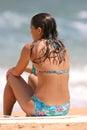 Mädchen auf dem Strand Stockfotografie