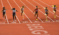 60m final finish Royalty Free Stock Photo