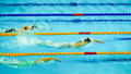 M freestyle panpacs american swimmer katie ledecky winner of the final at the pan pacific swimming championships Stock Image