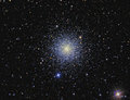 M globular cluster imaged with a telescope and a scientific ccd camera Stock Image