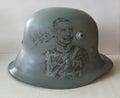 M17 helmet. Drawing.
