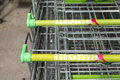 Mömax shopping carts with copy space Stock Photos