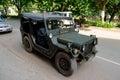 M a militaire nuts tactische vrachtwagen Stock Foto's