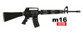 M16 rifle Royalty Free Stock Photo