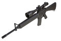M16 rifle with telescopic sight