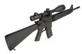 M16 rifle with telescopic sight Royalty Free Stock Photo