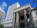 Mário de andrade library the main public of são paulo city Stock Photography