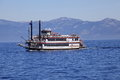 M s dixie ii riverboat cruising lake tahoe with many tourists on Royalty Free Stock Images