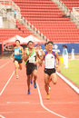 M in thailand open athletic championship phatumtani – september groups of men player action of championships at thammashat Stock Photo