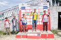 Maîtrise le podium Photos stock