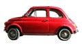 Mały stary rocznika samochód włoski przemysł na bielu cropped Obraz Royalty Free