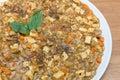 Ma bo tofu spicy full flavour tofu in white dish Royalty Free Stock Photo