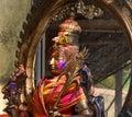 Maa kamakhya devi idol during Holi festival . Royalty Free Stock Photo