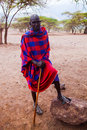Maasai man portrait in Tanzania, Africa Stock Photo