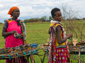 Maasai mara kenya december unidentified women sell traditional souvenirs december at maasai mara kenya the maasai are the most Stock Image