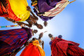 Maasai men five bowed top Royalty Free Stock Image