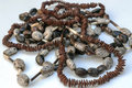 Maasai necklace stones surrounded by white background Stock Image