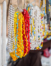 Maasai necklaces beads sold on a local market in tanzania Royalty Free Stock Photography