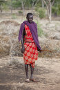 Maasai shephard Royalty Free Stock Photos