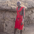 Maasai warrior photo of a man taken in the village in kenya http www maasaiwarrior com m Stock Photo