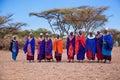 Maasai women in their village in Tanzania, Africa Royalty Free Stock Photo