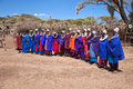 Maasai women in their village in Tanzania, Africa Royalty Free Stock Photos