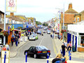 Mablethorpe lincolnshire the main street in the seaside town of england uk Royalty Free Stock Images