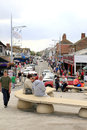 Mablethorpe town lincolnshire looking down the main street from the seafront at england uk Stock Photos