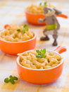 Mac and cheese shot for a story on homemade organic healthy baby foods selective focus Royalty Free Stock Photo