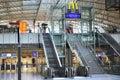 Mac Donald logo in Frankfurt airport terminal 2 Stock Image