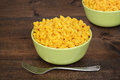 Macaroni and cheese with fork Royalty Free Stock Photo