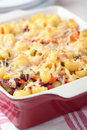 Macaroni cheese with vegetables Royalty Free Stock Photo