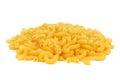 Macaroni pasta isolated on white Royalty Free Stock Photo