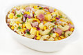 Macaroni Pasta Salad with Ham and Cheese Royalty Free Stock Photography