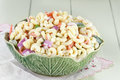 Macaroni salad with mayonnaise and vegetables Stock Photos