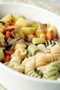 Macaroni with vegetables Royalty Free Stock Photography