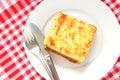Macaronis cuits au four avec du fromage et la viande Photographie stock