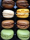 Macarons in a box Royalty Free Stock Photography